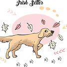 Funny Irish Setter Sketch by Natalia Piache