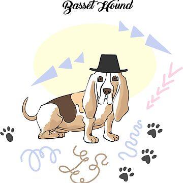 Funny Basset Hound Sketch by piacheva
