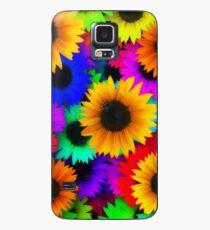 Sonnenblume-Power Hülle & Klebefolie für Samsung Galaxy