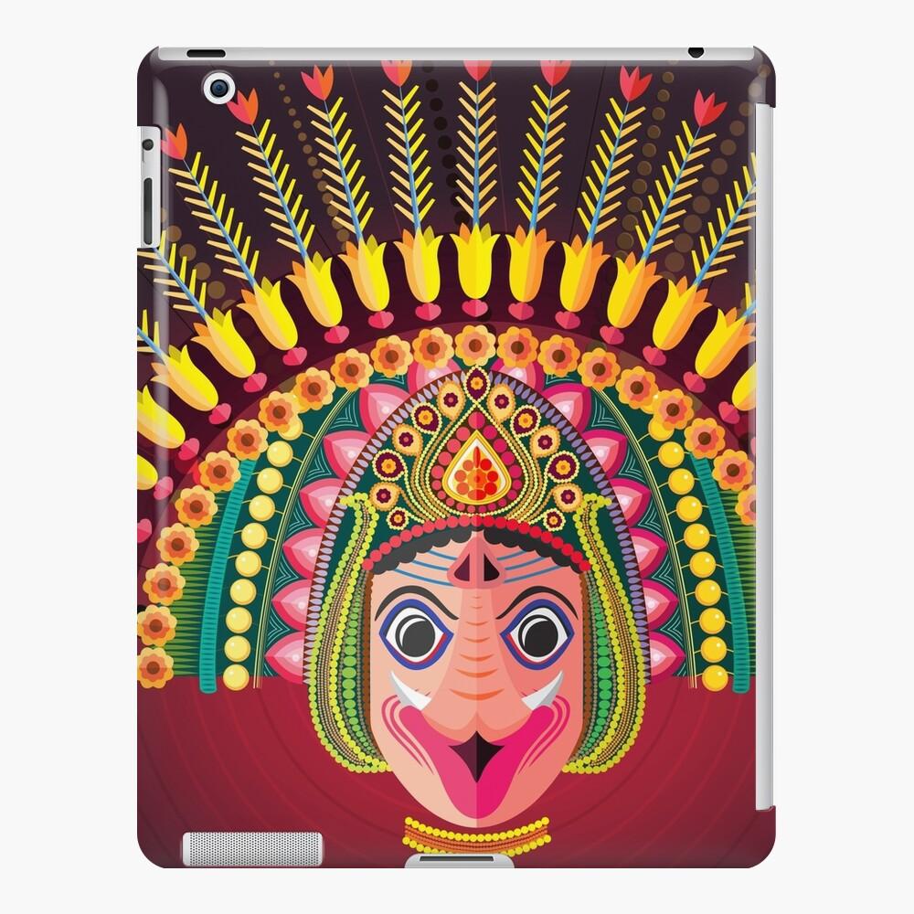 Colorful dance mask- Chhau folk dance iPad Case & Skin