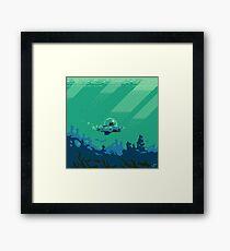 Cat Fishin' Framed Print