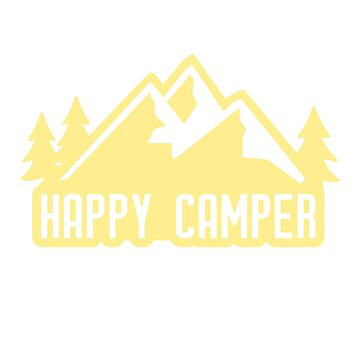 Happy Camper (yellow mountains) by its-anna