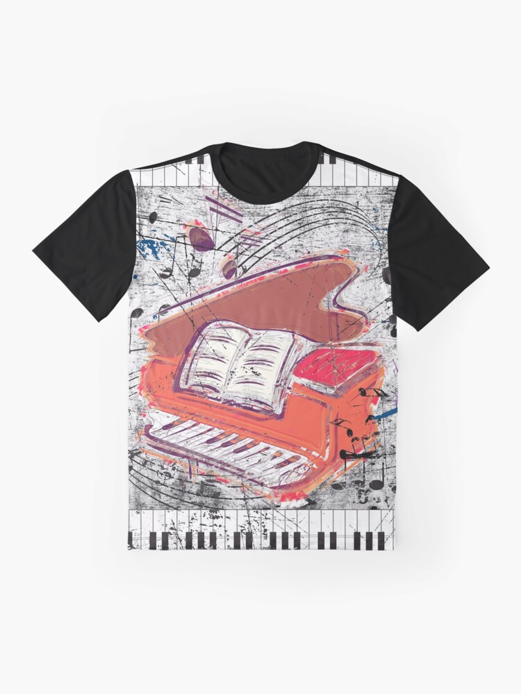 Alternate view of Scratched Piano Graphic T-Shirt