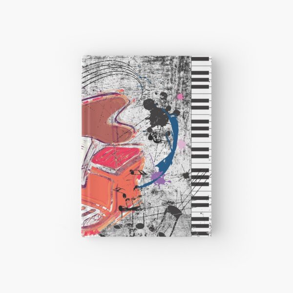 Scratched Piano Hardcover Journal