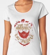 save the animals, EAT PEOPLE Women's Premium T-Shirt
