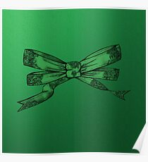 Green bow Poster