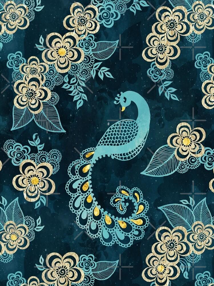 Henna Tattoo Peacock by adenaJ