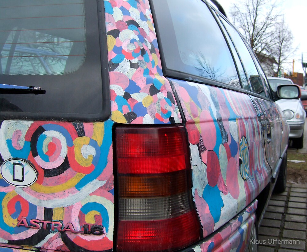 Colorful painted Opel Astra by Klaus Offermann