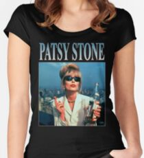 cb98b2ce3 Absolutely Fabulous - Patsy Stone - Joanna Lumley - Retro Vintage 90s  Women's Fitted Scoop T