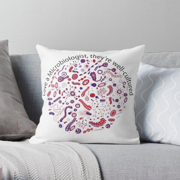 Love a Microbiologist Throw Pillow