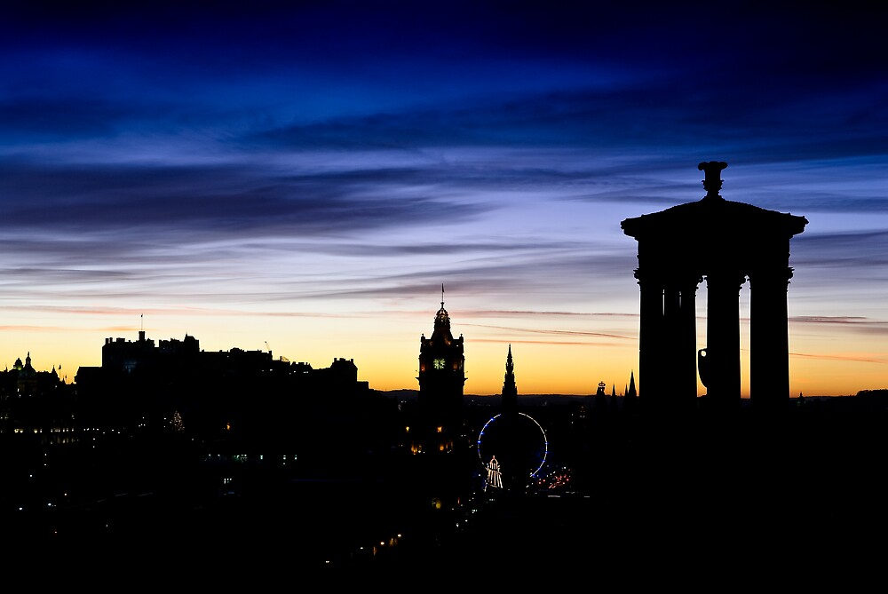 Edinburgh Skyline by David Queenan