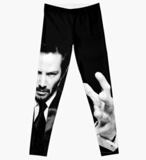 Keanu Reeves the Actor (Black and White) Leggings
