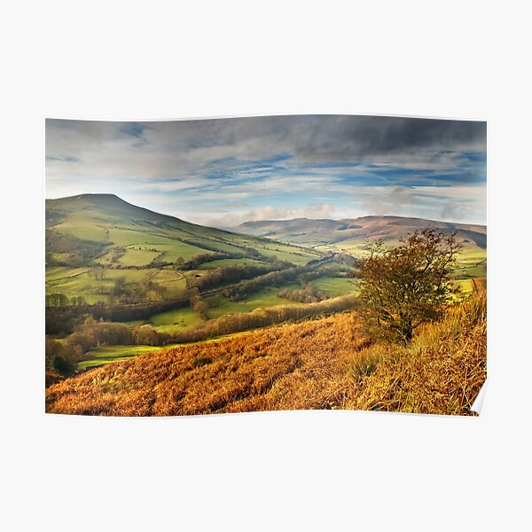 Lose Hill & Edale Valley, Peak District Poster