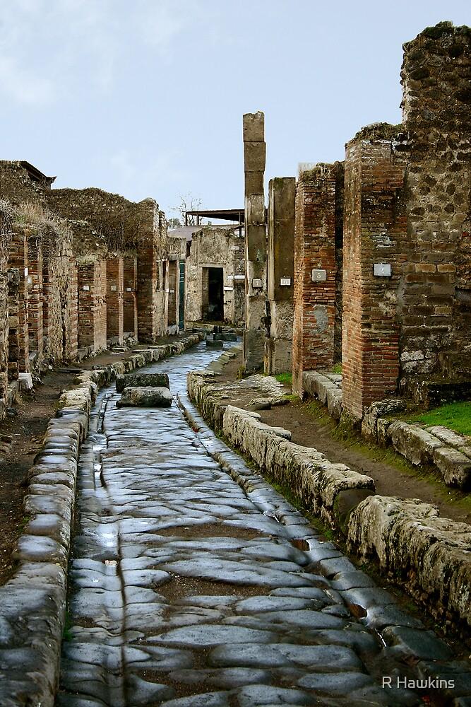Street in Pompeii by R Hawkins