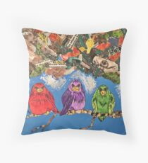 3 Little Birds  Throw Pillow