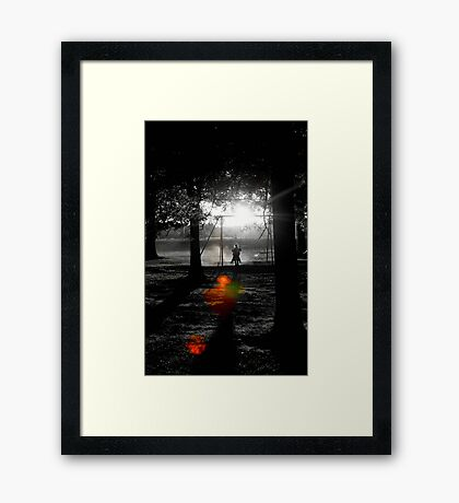 Shadow Swinging II Framed Print