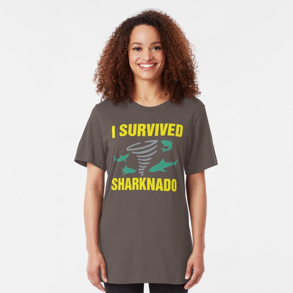 I Survived Sharknado SI98 Trending Slim Fit T-Shirt