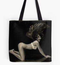 Modeling on cat walk. Tote Bag