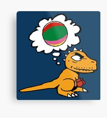 Little dino wants to play Metal Print