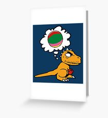 Little dino wants to play Greeting Card