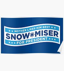 Snow Miser for President Poster