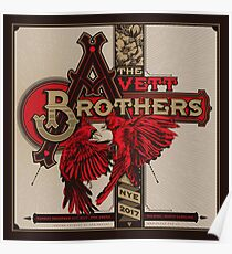 The Avett Brothers December 31 2017 Raleight North Carolina Happy New Year 2018 Poster