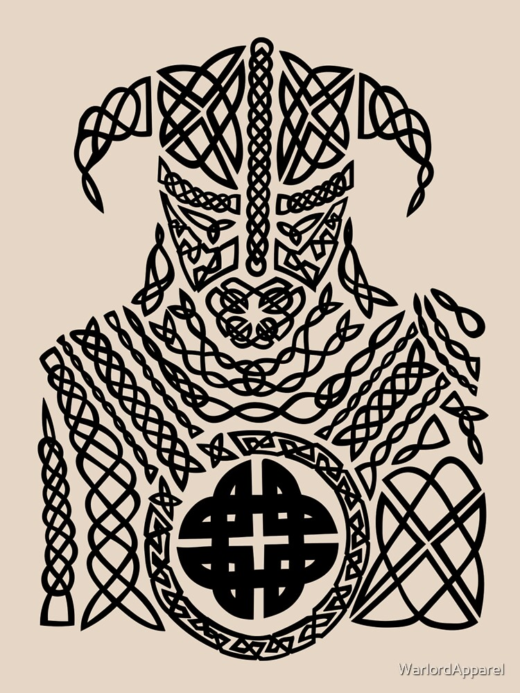 Ancient Celtic Knot Viking Warrior Womens Relaxed Fit T Shirt By