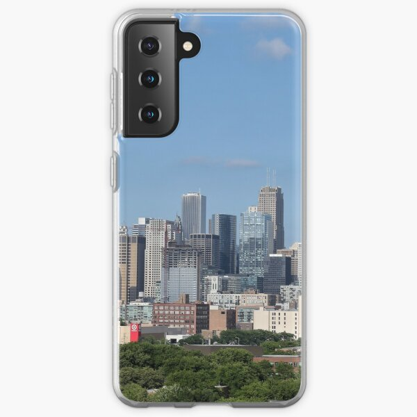 Chicago skyline in summer Samsung Galaxy Soft Case