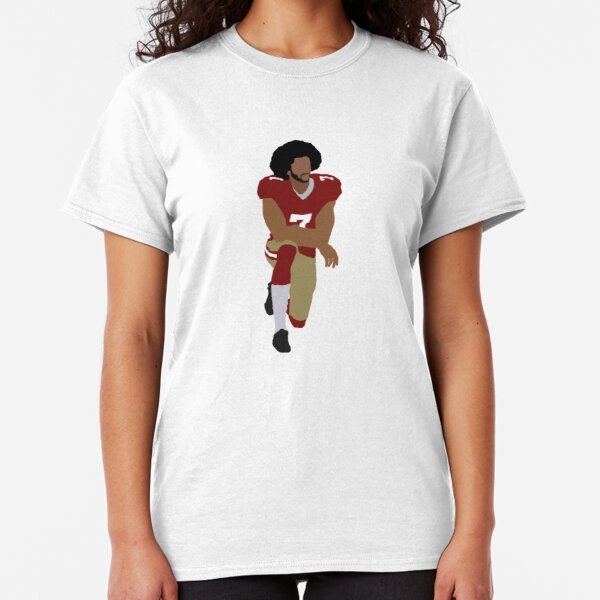 Colin Kaepernick arrodillado Camiseta clásica