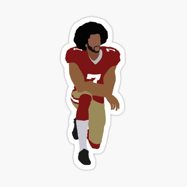 Colin Kaepernick Kneeling Sticker