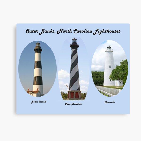 OBX Lighthouses Canvas Print