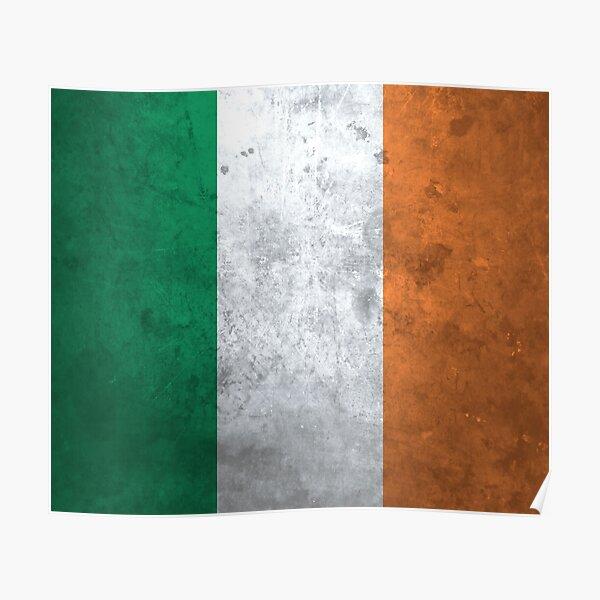 Distressed Irish Flag Poster