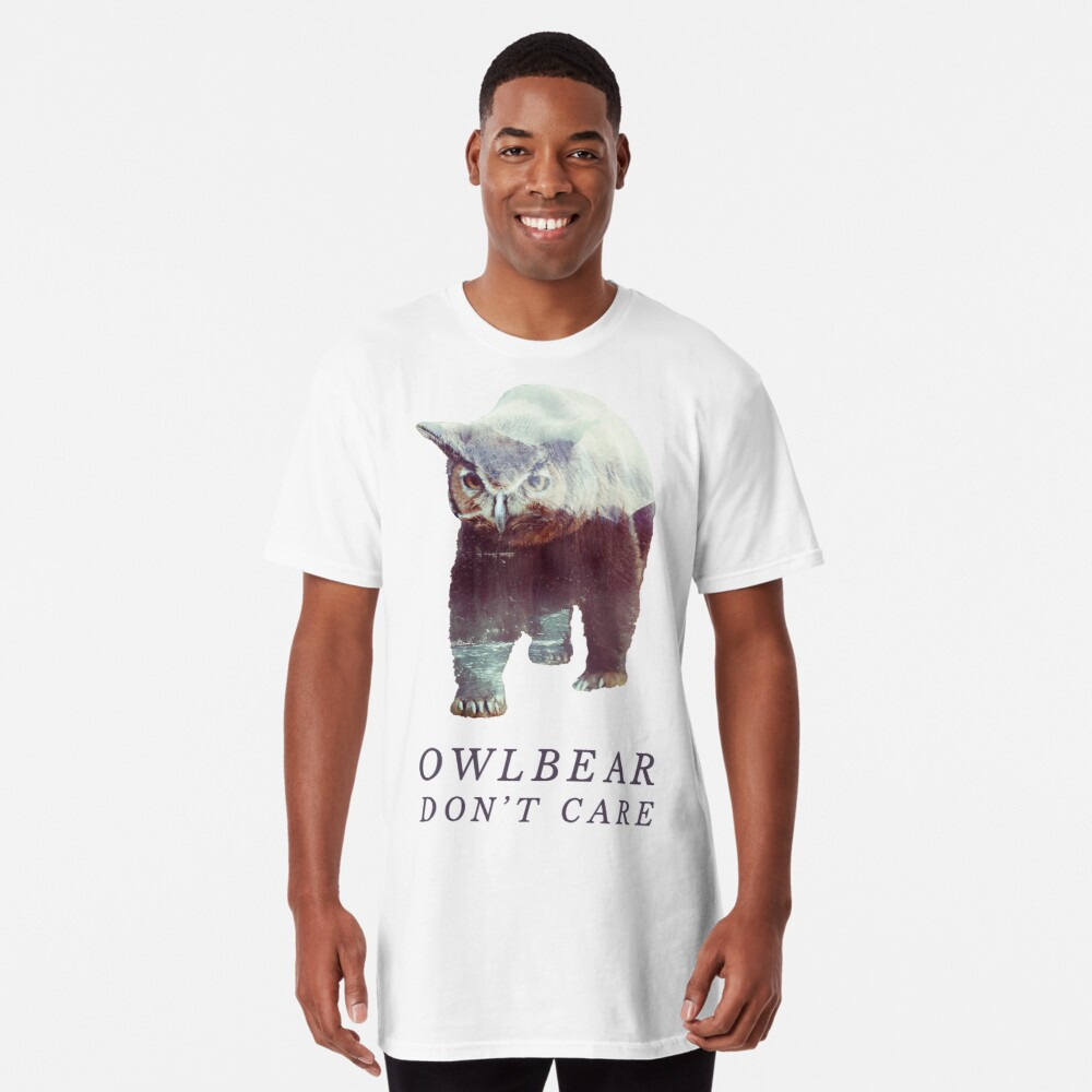 Owlbear no importa Camiseta larga