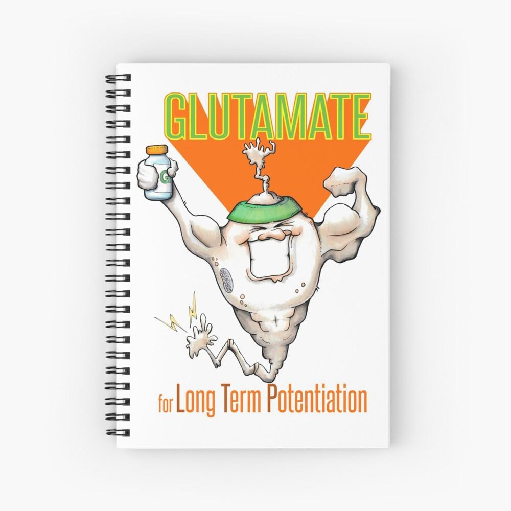 Glutamate! - for Long Term Potentiation Spiral Notebook