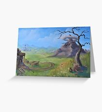 Hyrule Field Oil Painting Greeting Card