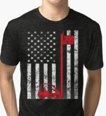 American Forklift Operator Tri-blend T-Shirt