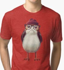 Hipster Porg Tri-blend T-Shirt