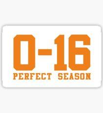 Browns Perfect Season 2.0 0-16 Sticker