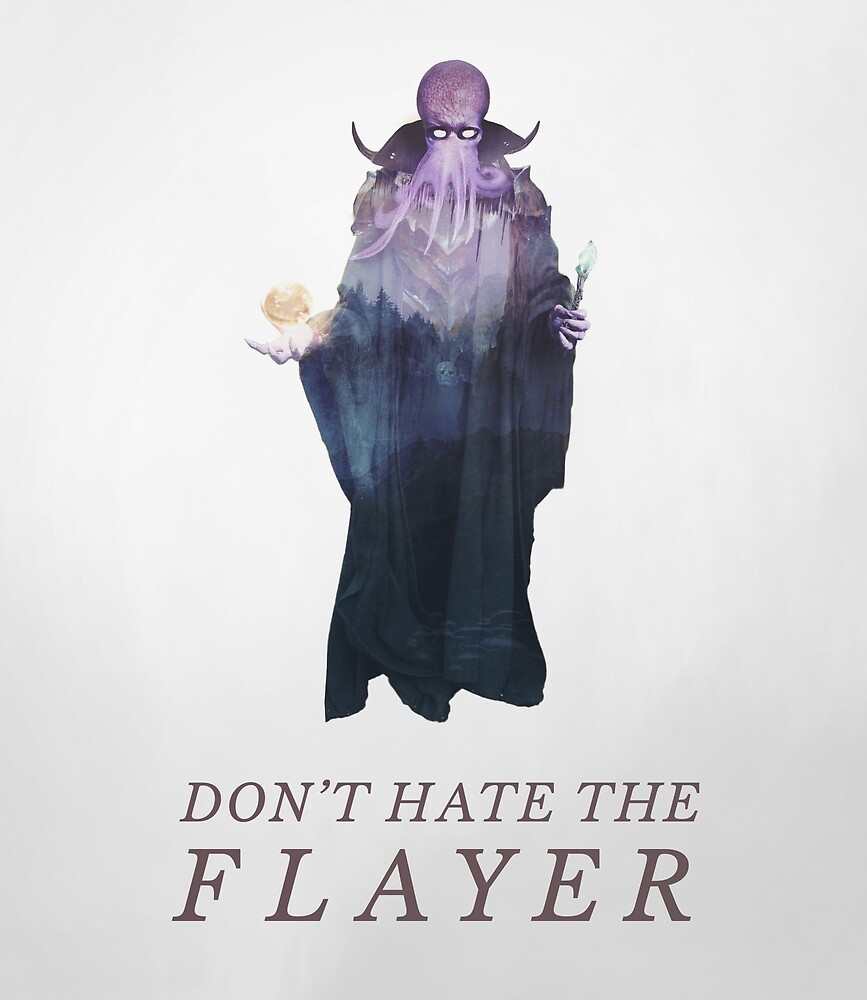 Don't Hate the Flayer - Illithid / Mind Flayer DnD Art by Andy Wynn