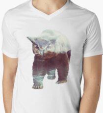 Camiseta de cuello en V Owlbear