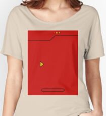 Red Pokedex Pokemon Women's Relaxed Fit T-Shirt