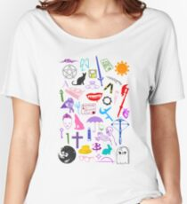 Buffy Symbology, Multi-color / Rainbow / PRIDE! Women's Relaxed Fit T-Shirt