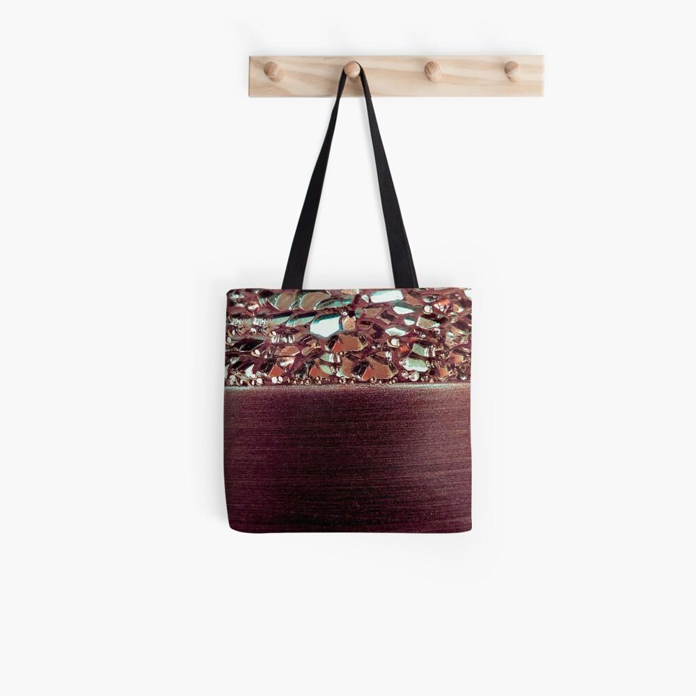 Lila Glanz Tote Bag
