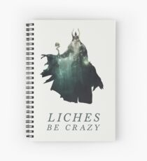 Liches Be Crazy - Lich D&D / DnD / Dungeons and Dragons Typography Art Spiral Notebook