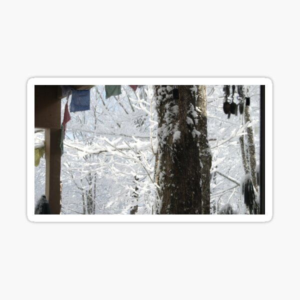 Snow and Prayer Flags Sticker