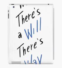 Wo ein Wille ist, da ist ein Weg - BLAU iPad-Hülle & Klebefolie