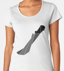 Geometric Hunter's Machete Women's Premium T-Shirt
