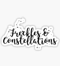 Freckles and Constellations  Sticker
