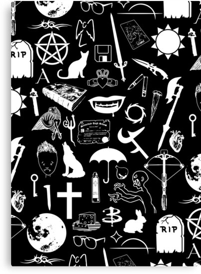 Buffy Symbology, White by arthurpopular