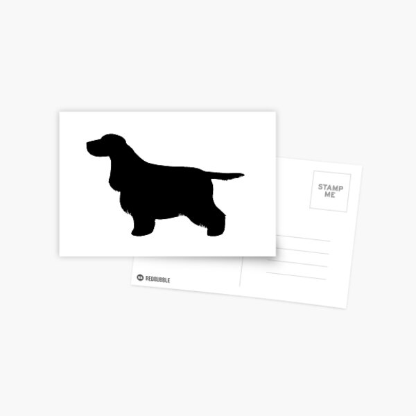 Cocker Spaniel (Black) Greetings Card Postcard